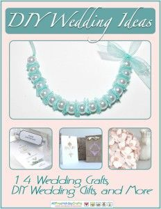 14 Ways to Cut Costs with a DIY Wedding from @AllFreeHolidayCrafts