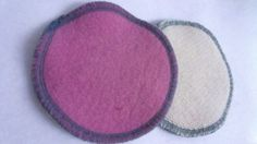 Recycled Pink Lambswool Nursing Pads by LagamorphLounge on Etsy, $5.50