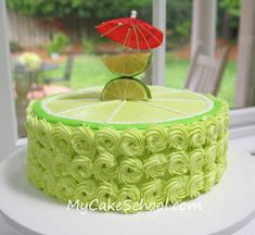 rosettes and a big lime piped on top