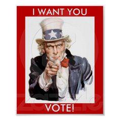 Uncle Sam VOTE! poster