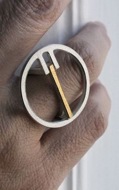 Andreas Schiffler | OQ 1 ring with combination gold insert ring