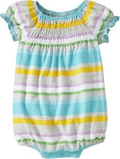 bubble romper with smocked front - Old Navy