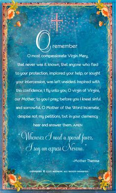 Holy Mother Memorare Card by pocketfullofmiracles on Etsy