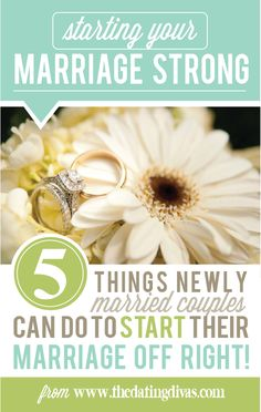Tips and Ideas for newlywed couples. What to do in those first few months! This is so important! www.TheDatingDivas.com