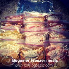 Freezer Meals 101 - My First Attempt at Freezer Meals + Recipes!