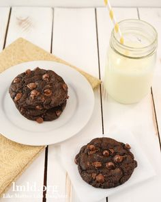 Double Chocolate Cookies for Two - 4 extra chocolately cookies just for you and a friend! #lmldfood