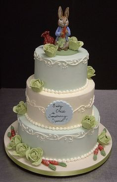 Peter Rabbit baby shower by robynlovescake, via Flickr