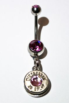 Glitz Your Hitch Bullet Belly Button Ring by GunpowderAndGlitz