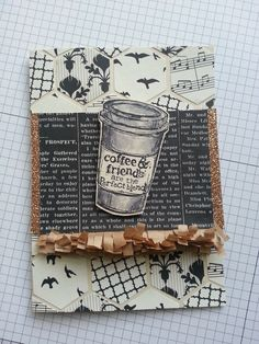 Lindsay Tindal from the UK sent in this beautiful creation. Very creative use of the packing paper.