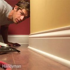 How to Install Baseboard Molding, Even on Crooked Walls! #howto #diy #baseboard