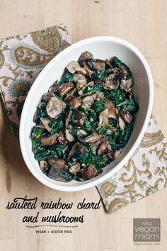 #Vegan #GlutenFree Sautéed Rainbow Chard + Shiitake Mushrooms | vegan miam