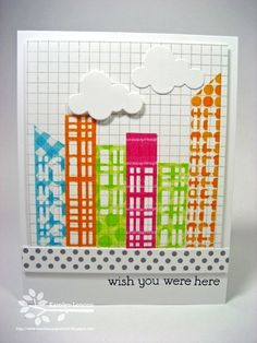 Whimsical washi tape skyscrapers -- Love this!