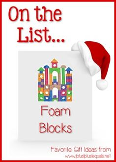 Christmas Gift Ideas ~ Foam Blocks --- @{1plus1plus1} Carisa is sharing her top ten ideas from now until Christmas!