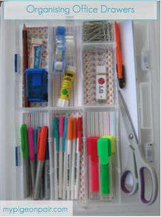 Organising Office Drawers, #Office #Organisation