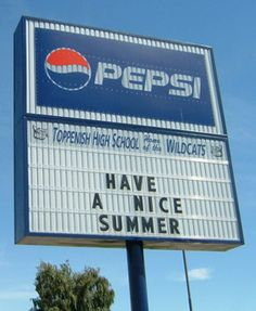 A sign outside of Washington's Toppenish High School promotes Pepsi.