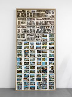 Matt Mullican: Post Card Bulletin Board 2009 group of post cards on bulletin board 250 x 122.5 x 8 cm.