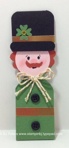 Lucky Leprechaun - B.J. Peters  Envelope Punch Board treat holder creation