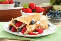Coconut Flour Crepes with Berries by Eat Spin Run Repeat