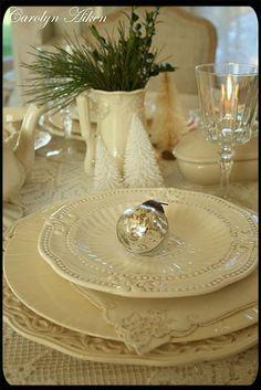 white table setting