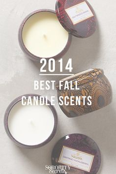 2014 Best Fall Candle Scents