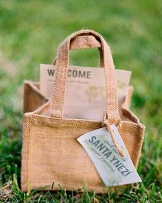 welcome bags, put a welcome to Austin Texas letter in bag.