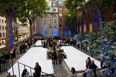 'winter wonderland' production in St James Garden. Summer outdoor Venue Hire through 195 Piccadilly, London