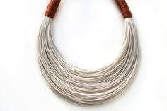 White and cinnamon statement necklace Summer Collection $38