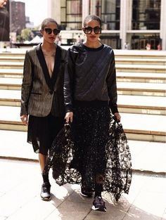 Coco and Breezy killing it in MILLY Fall 2014 Collection #danceroff-duty #milly