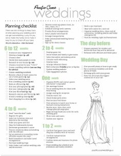 12 Month Wedding Checklist Pdf Amazing Ideas