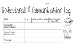 Behavioral & communication log