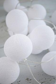 Julias vita drömmar - Happy lights - ljusslinga vit