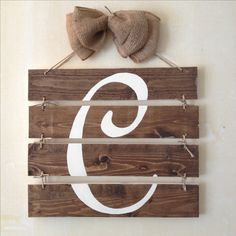 monogram wood sign....great gift.