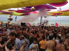 Beach Party in action during Miami Beach's Winter Party Festival '12.