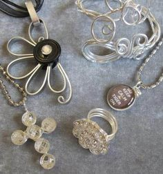 Handmade button rings & jewelry from Mattie Jules at the Holiday Boutique!