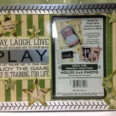 Picture Frame with Silhouette Silver Foil and Graphic 45