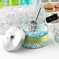 Montana Glass Canisters for a Candy Bar!