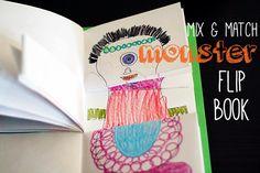 mix match, craft, match monster, flip books, match flip, book clubs, monster mix, halloween, kid