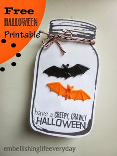 Embellishing Life: Halloween Jar printable