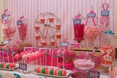 Stunning desserttable #candy #desserttable #carnival #girly #birthday