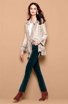 Nic + Zoe Cardigan, Tank NYDJ Skinny Corduroy jeans