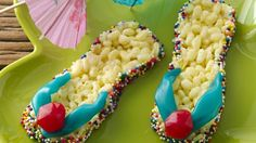 These colorful flip flops make a tasty, easy summertime snack.