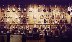 vintage guitar room
