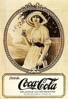 Drink delicious, refreshing Coca-Cola! vintage food ads soda 1920s