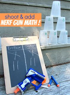 Nerf gun math for kids.