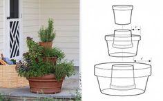 DIY Stackable Herb Tower