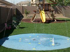 Backyard splash pad....YES PLEASE!!!