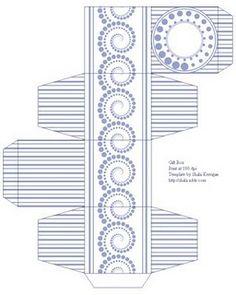 Moldes de cajas para imprimir gratis ~ Portal de Manualidades