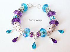 Purple blue raindrop charms bracelet, European beads charms bracelet, full beaded, LIMITED edition, OOAK #charmsbracelet #bluepurplecharmsbracelet #bluecharmsbracelet #purplecharmsbracelet #magicalcharmsbracelet #fairycharmsbracelet #raindrop #fairy #magical