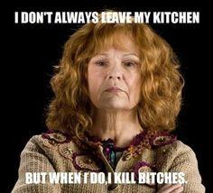 Molly Weasley: Liscenced badass.