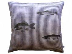 coussin lin rayé / stripes & fishs SHIFUMI